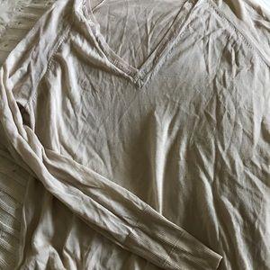 HOSS linen sweater with v-neck detail